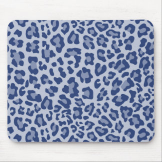 Rainbow Leopard Print Collection - Deep Blue Mouse Pad