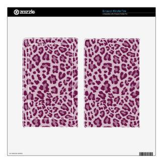 Rainbow Leopard Print Collection - Deep Fuchsia Kindle Fire Decals