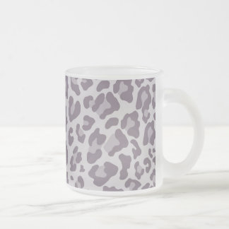 Rainbow Leopard Print Collection - Dusty Violet Frosted Glass Coffee Mug