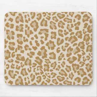 Rainbow Leopard Print Collection - Golden Brown Mouse Pad