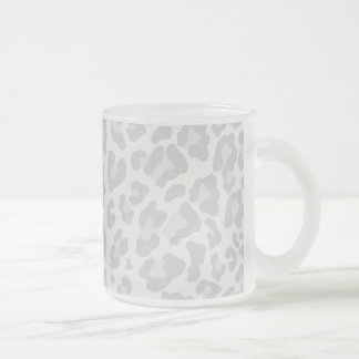 Rainbow Leopard Print Collection - Grey Frosted Glass Coffee Mug