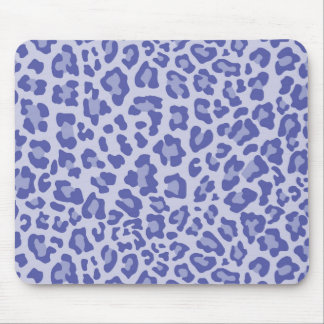 Rainbow Leopard Print Collection - Indigo Mouse Pad