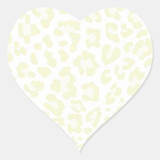 Rainbow Leopard Print Collection - Jonquil Yellow Heart Sticker