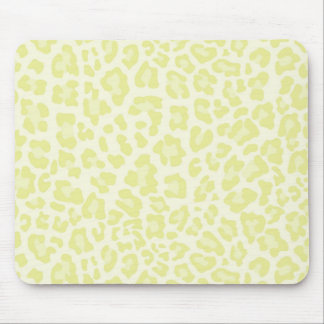 Rainbow Leopard Print Collection - Jonquil Yellow Mouse Pad