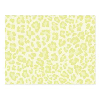 Rainbow Leopard Print Collection - Jonquil Yellow Postcard