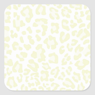 Rainbow Leopard Print Collection - Jonquil Yellow Square Sticker
