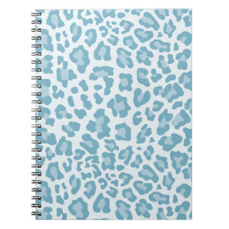 Rainbow Leopard Print Collection - Light Blue Journals