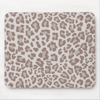Rainbow Leopard Print Collection - Light Brown Mouse Pad