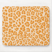Rainbow Leopard Print Collection - Orange Mouse Pad