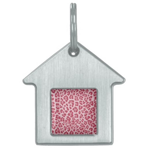 Rainbow Leopard Print Collection - Rose Red Pet ID Tags