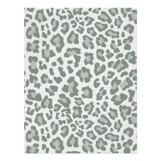 Rainbow Leopard Print Collection - Slate Green Letterhead Design