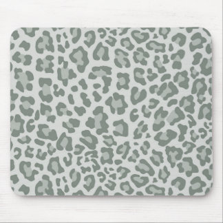 Rainbow Leopard Print Collection - Slate Green Mouse Pad