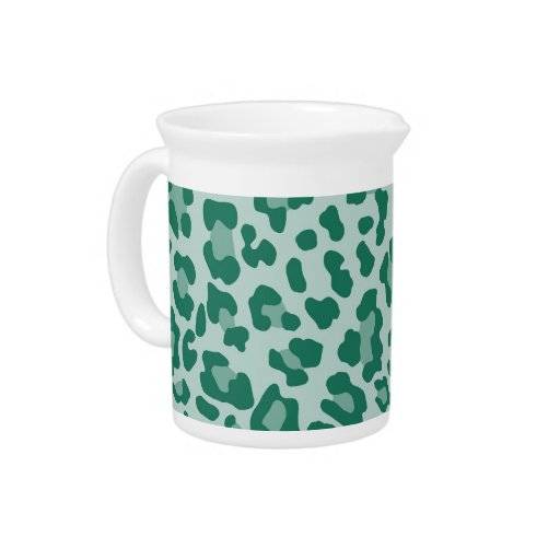 Rainbow Leopard Print Collection - Teal Beverage Pitchers
