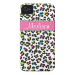 Rainbow Leopard Rhinestone Leopard BLING iPhone iPhone 4 Covers