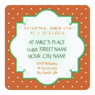 Rainbow Leprechaun St. Patrick's Day green brown Invitation