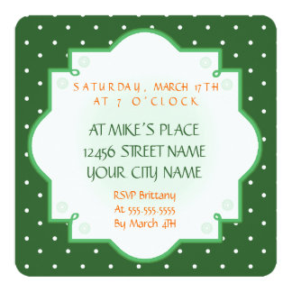 Rainbow Leprechaun St. Patrick's Day Invite