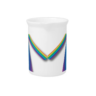 Rainbow Lesbian Love Beverage Pitcher