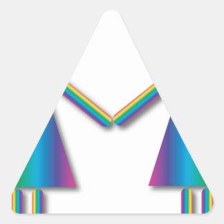 Rainbow Lesbian Love Triangle Sticker