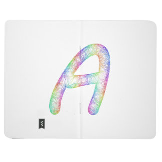 Rainbow letter A monogram Journal