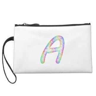 Rainbow letter A monogram Wristlet Wallet