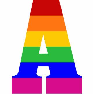 Rainbow Letter A Photo Sculptures