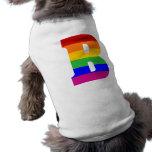 Rainbow Letter B Pet Tee