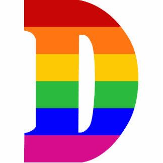Rainbow Letter D Photo Sculptures