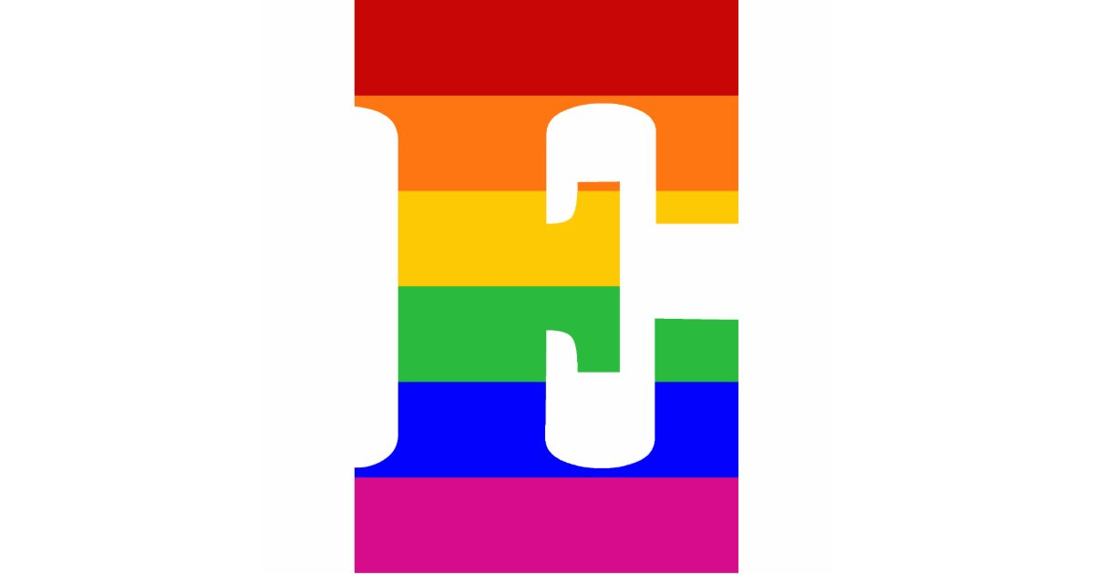 Rainbow Letter E Cutout Zazzle Com