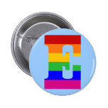 Rainbow Letter E Pins