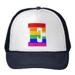 Rainbow Letter E Trucker Hat