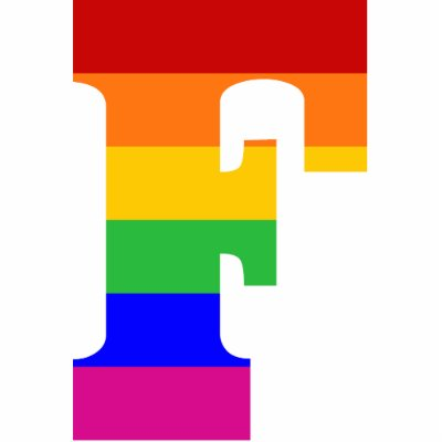 Rainbow Letter F