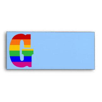 Rainbow Letter G Envelope
