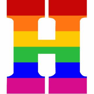 Rainbow Letter H Photo Sculptures