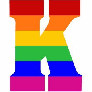 Rainbow Letter K Photo Cutout