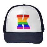 Rainbow Letter K Trucker Hat