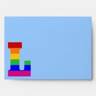 Rainbow Letter L Envelope
