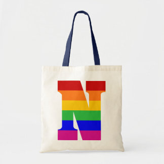 Rainbow Letter N Budget Tote Bag