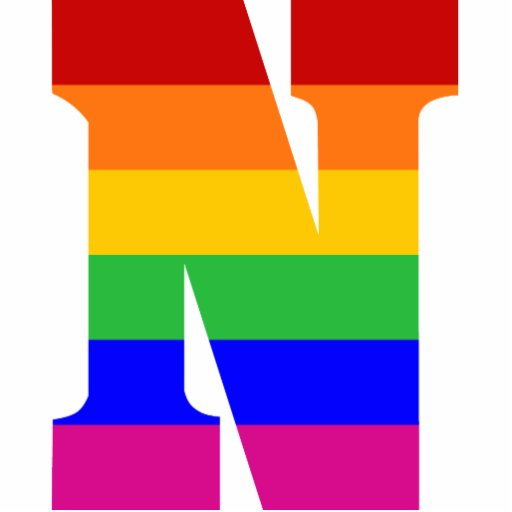 Rainbow Letter N Photo Sculpture Ornament Zazzle