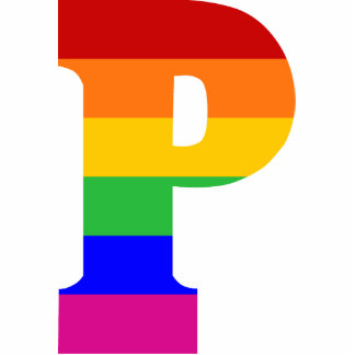 Rainbow Letter P Cut Outs