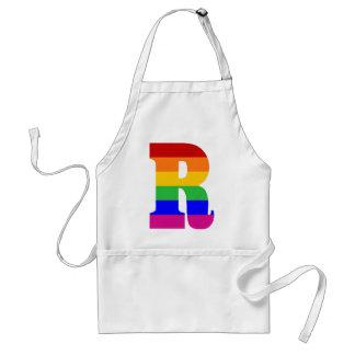Rainbow Letter R Adult Apron