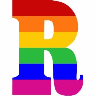 Rainbow Letter R Photo Sculptures