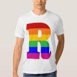 Rainbow Letter R Shirts