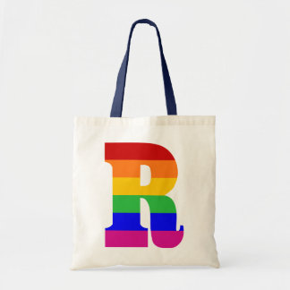 Rainbow Letter R Tote Bag