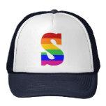 Rainbow Letter S Hats
