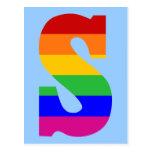 Rainbow Letter S Postcard