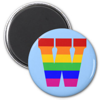 Rainbow Letter W Magnet