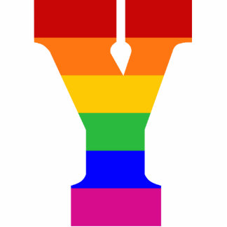 Rainbow Letter Y Photo Cutout