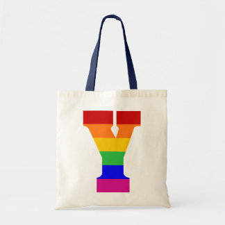 Rainbow Letter Y Tote Bag