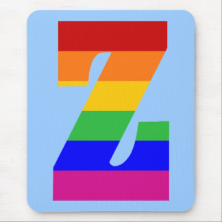 Rainbow Letter Z Mouse Pad