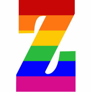 Rainbow Letter Z Photo Cut Outs
